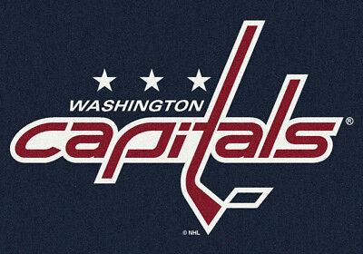 5X8 Milliken Washington Capitals Sports Nhl Spirit Area Rug   Approx 54 X78