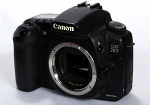 Details about Canon EOS 20D 8.2 MP Digital SLR Camera Black Body Only