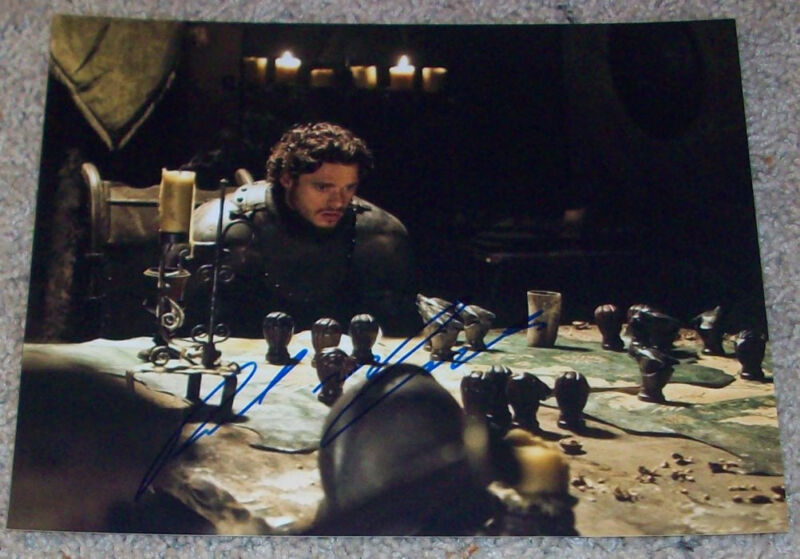 RICHARD MADDEN SIGNED GAME OF THRONES ROBB STARK 8x10 PHOTO C w/PROOF AUTOGRAPH