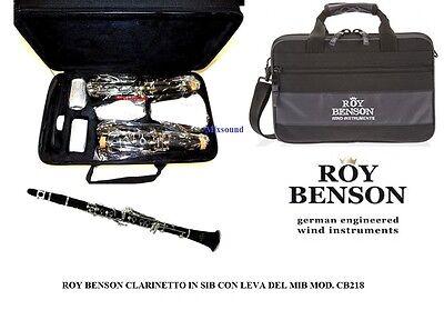 ROY BENSON CLARINETTO IN SIB CON LEVA DEL MIB MOD CB218 18 chiavi con astuccio