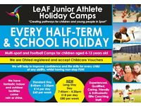 LeAF Junior Athelte Holiday Camp/Club - Open Every School Holiday/Half Term