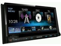 Kenwood double din car stereo dvd mp3 ddx7025bt