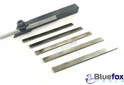 8mm Mini Parting Tool Cut Off Holder With 6 Pieces Hss Blades For Mini Lathe