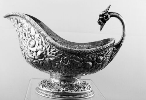 Gravy Boat by Tiffany &Co. Sterling Silver Repousse with Ram