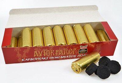 - GREEK ORTHODOX QUICK LIGHTING CHARCOAL TABLETS INCENSE Disc Shisha Hookah Coal