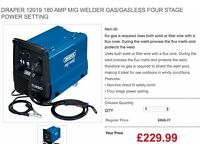 Draper 12019 180 amp MIG Welder Gas / Gasless Four stage power setting