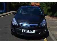 2013 Vauxhall Corsa 1.2i 16v SE 5dr Black Low miles 34,951