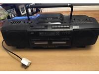 JVC radio/CD/dual tape play and record