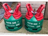 Patio gas 2x brand new 5kg gas cylinders