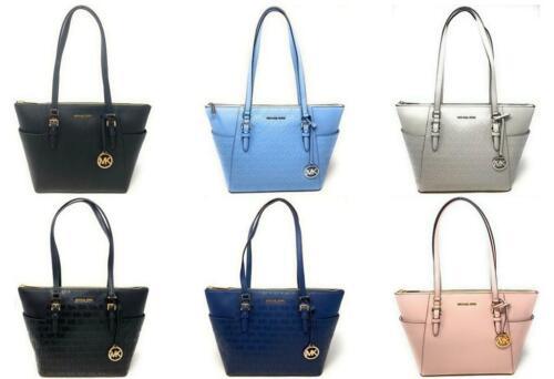 Michael Kors Charlotte Large Top Zip Tote Shoulder Bag Handbag $398