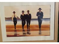 Jack Vettriano Mounted & Framed Print with glass The Billy Boys