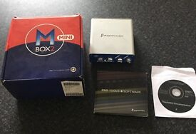 Mbox audio interface with ProTools