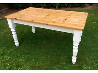 Heavy Solid Pine Farmhouse Table ... £95 .. Possible Delivery