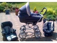 Bebecar 3in1 Baby Travel System, Colour Vogue Blue Denim