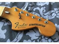 Vintage 1979 Fender Stratocaster neck. Good playing condition with tuners and string trees