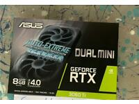 ASUS RTX GeForce 3060 Ti Dual Mini GPU New and Sealed