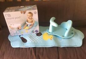 Mothercare baby bath seat and mat aqua pod