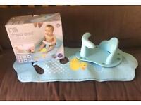 Mothercare baby bath seat and mat aqua pod