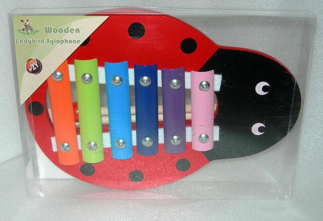 Evie & Jack Ladybird Xylophone with 6 Coloured Notes - NIP
