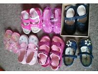 Joblot of kids shoes girls mixed sizes X 7 pairs