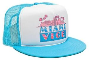 New Retro MIAMI VICE 80's TV Show Hat Cap Flat Bill Snapback Baseball Rare