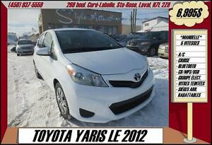 2012 Toyota Yaris LE A/C BLUETOOTH USB