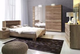 MILTON Delivery 1-10 days Brand New 5 Piece Bedroom SET Wardrobe King Size Bed and more