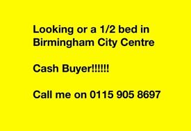 Cash buyer looking for 1/2 bed in city centre