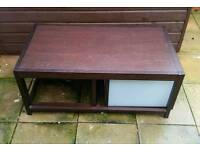 Coffee table...with storage box and smaller table underneath bargain price £5