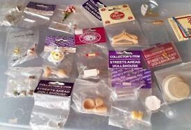 Over 50 12th Scale Dolls House Accessories From Food, Pots, Dishes, Pans, Baskets, Even a Manniquin