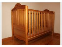 Mamas and Papas solid pine cotbed