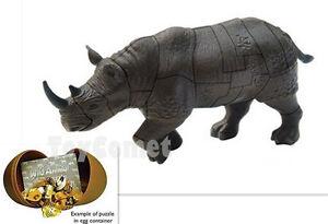 Rhino Wild Animal 4D 3D Puzzle Egg Realistic Model Kit