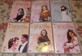 Catherine Cookson DVD x 6-Mallen Girls,Wingless Bird,Moth,Black Candle,Dinner of Herbs, Tide of Life