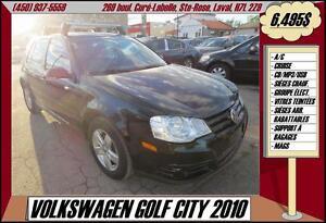 2010 Volkswagen City Golf A/C CRUISE MP3/USB