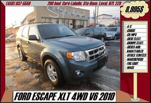 2010 Ford Escape XLT 4WD V6 MP3 A/C