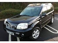 54 Plate NISSAN X-TRAIL T-SPEC 2.2, Diesel, DCI BLACK, 4x4, Low Mileage, 86000 miles, MUST VIEW