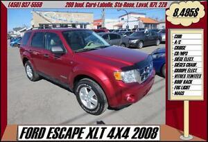2008 Ford Escape XLT 4X4 CUIR A/C MP3