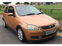 VAUXHALL CORSA DESIGN 16V , 2004 04 PLATE, 1.2 PETROL, GOLD, MOT MARCH 2018