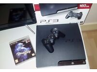 Playstation 3 Slim 160GB Console with Demon's Souls & 2 x Controllers PS3