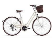 Cream GIANT Liv flourish bike