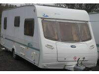 LUNAR ZENITH 6 BERTH 2005 FIXED CABIN BUNKS LIGHT WEIGHT +AWNING