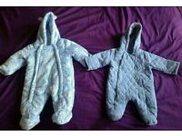 Baby boy snowsuits / pramsuits 0-3 months - Manchester