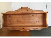 Pine wooden shelf