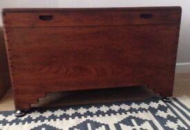 Lovely Solid Wood Trunk Storage Vintage Antique