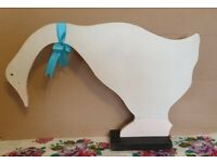 Wooden Swan. Decorative handmade