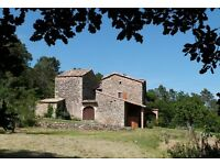 South France - Ardeche - Ancient large comfortable stone holiday home to rent in June or September