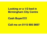 Cash Buyer 1/2bed in Birmingham City Centre