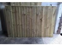 Wooden Straight Top Garden Fence Panels 🌲