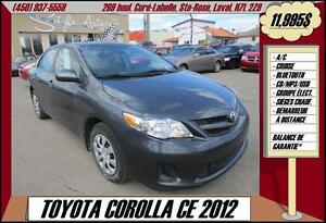 2012 Toyota Corolla CE BLUETOOTH USB/MP3