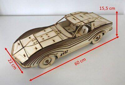 Corvette Stingray als Grossmodell aus Holz als Bausatz, Modell, Holzmodell - Corvette